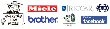 AAA Vacuum Sells and Services Miele Riccar Brother Sebo and Big Green Egg